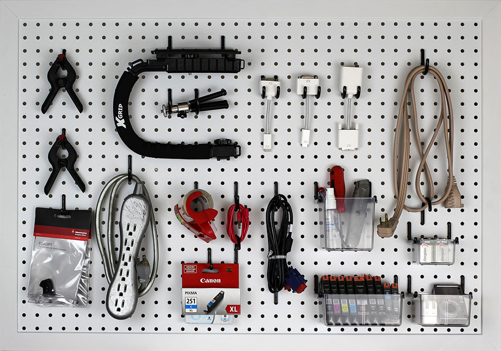 Pegboard Organization Ideas Functionaire Locking